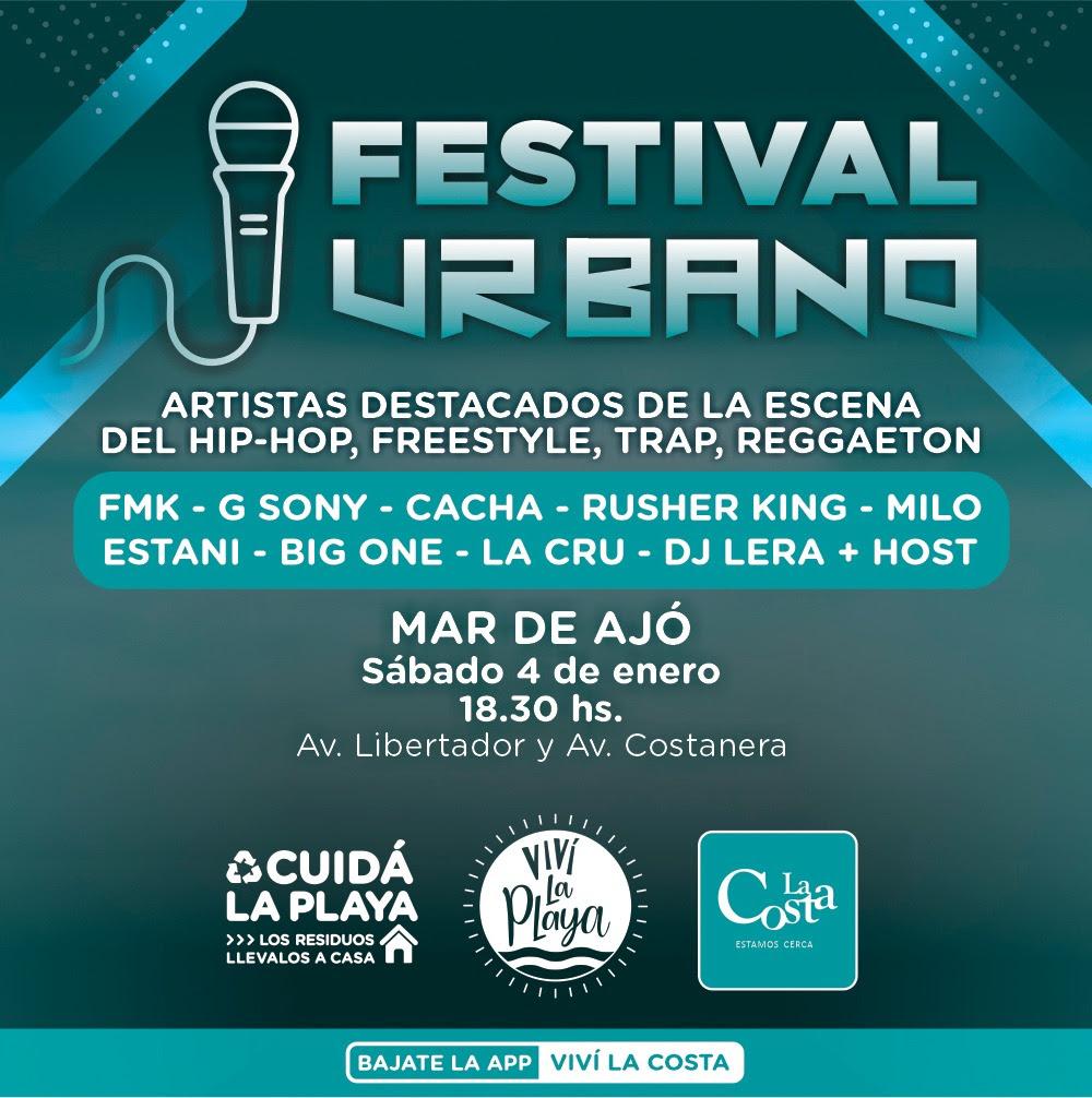 Festival De Música Urbana Al Aire Libre En Mar De Ajó